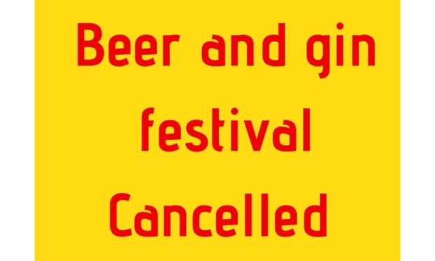 Crieff Beer and Gin Festival announced it was called off