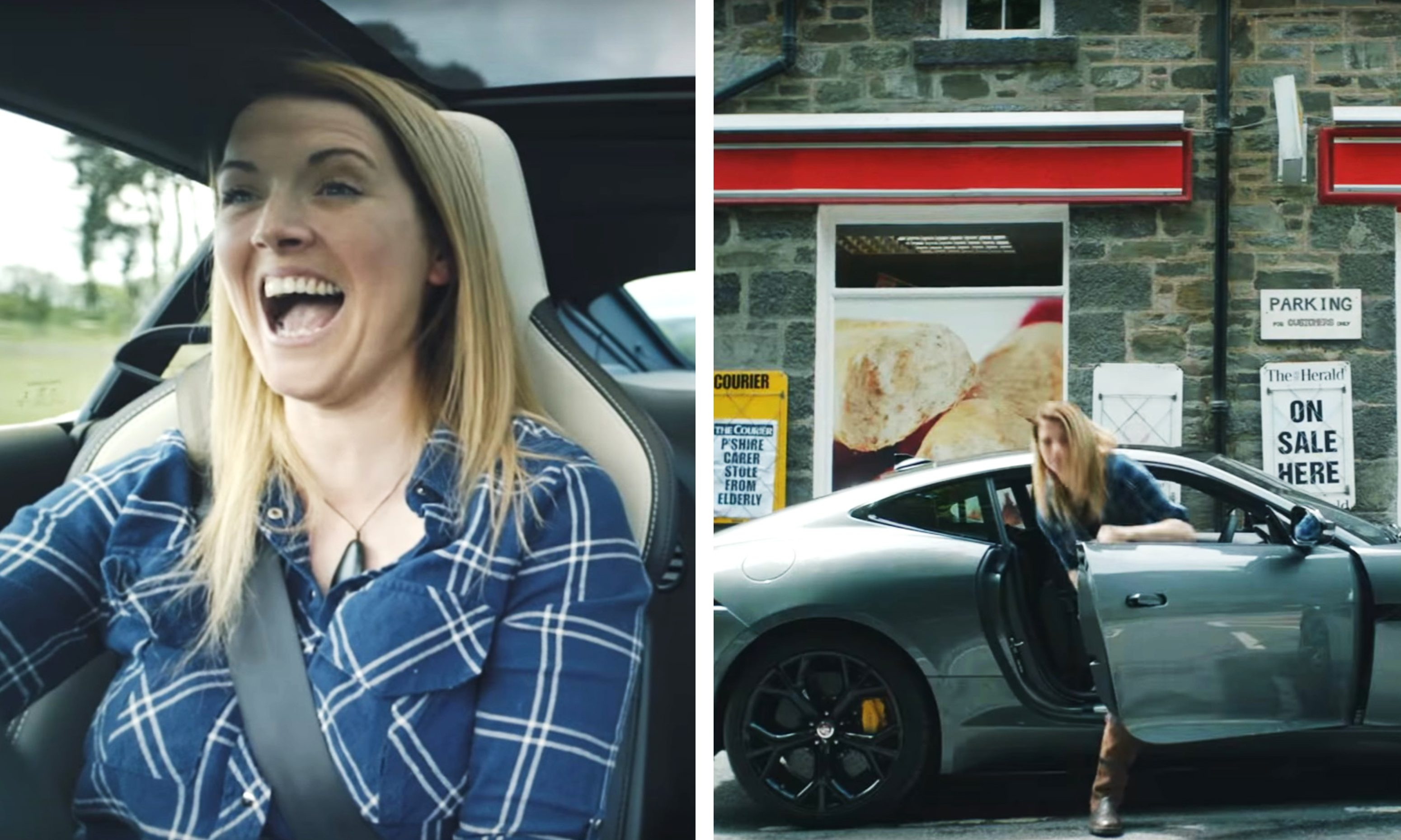 Laura McHardy in the advert.