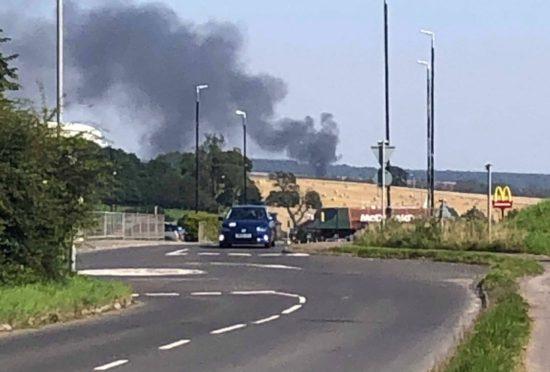 Black smoke seen from Ethiebeaton outside Monifieth.