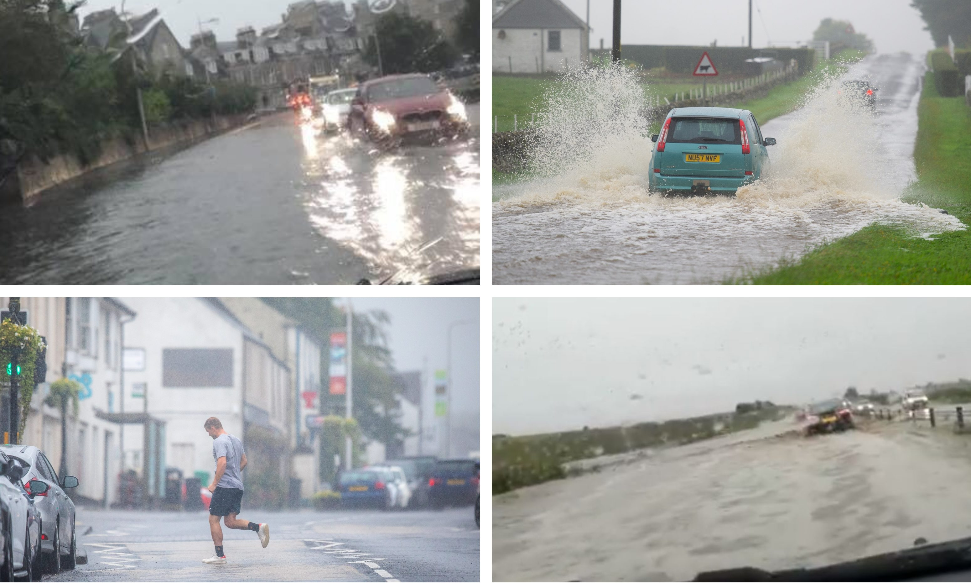 Flooding across Tayside and Fife.