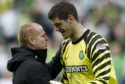 Fraser Forster and Neil Lennon.