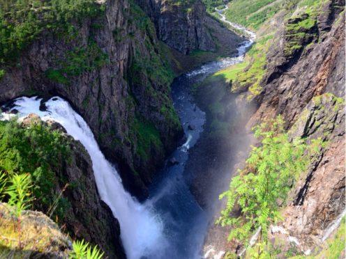 Vøringfossen Waterfall.
