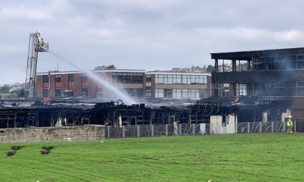 Woodmill High School in Dunfermline.