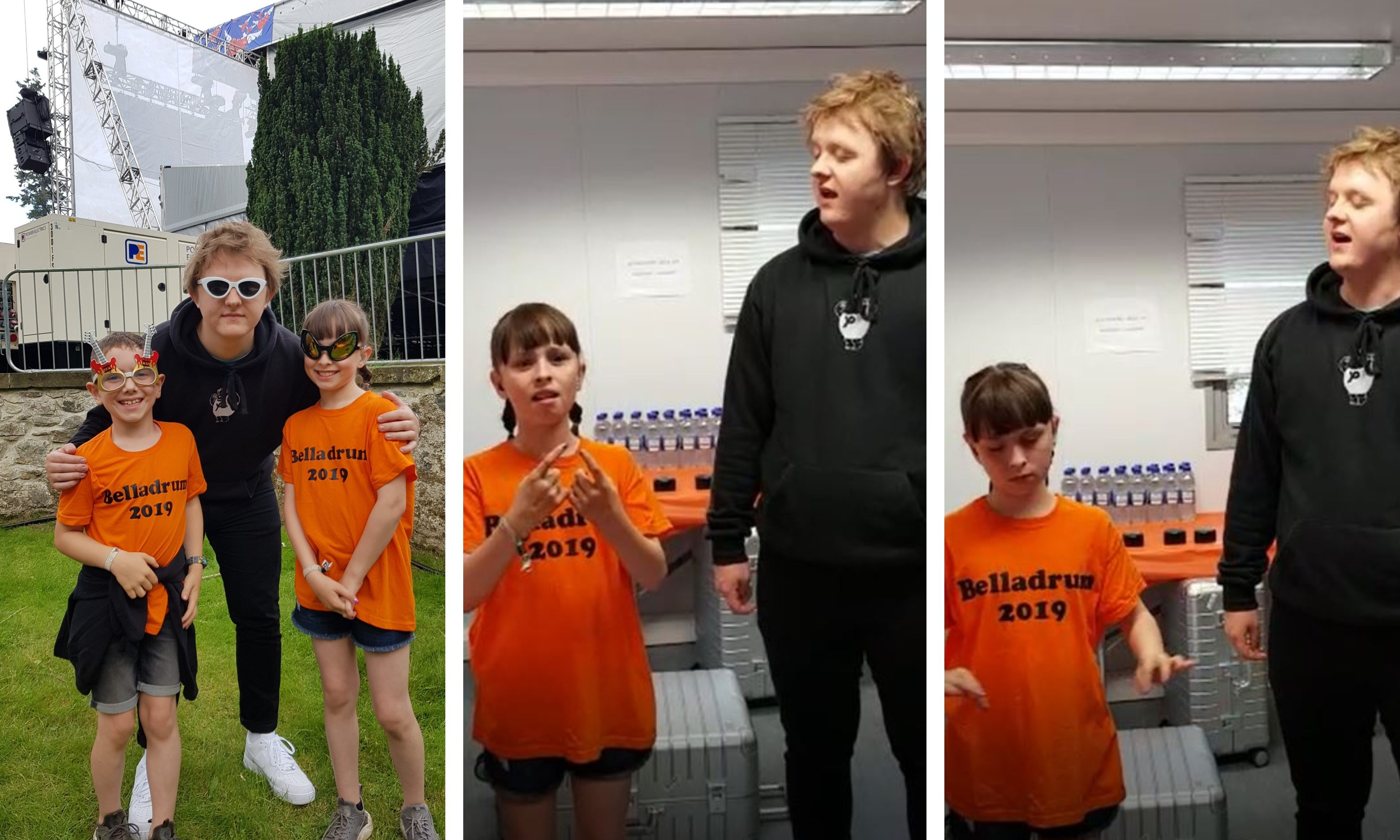 Lewis Capaldi joined  Niamdh Braid for the special version of his song.