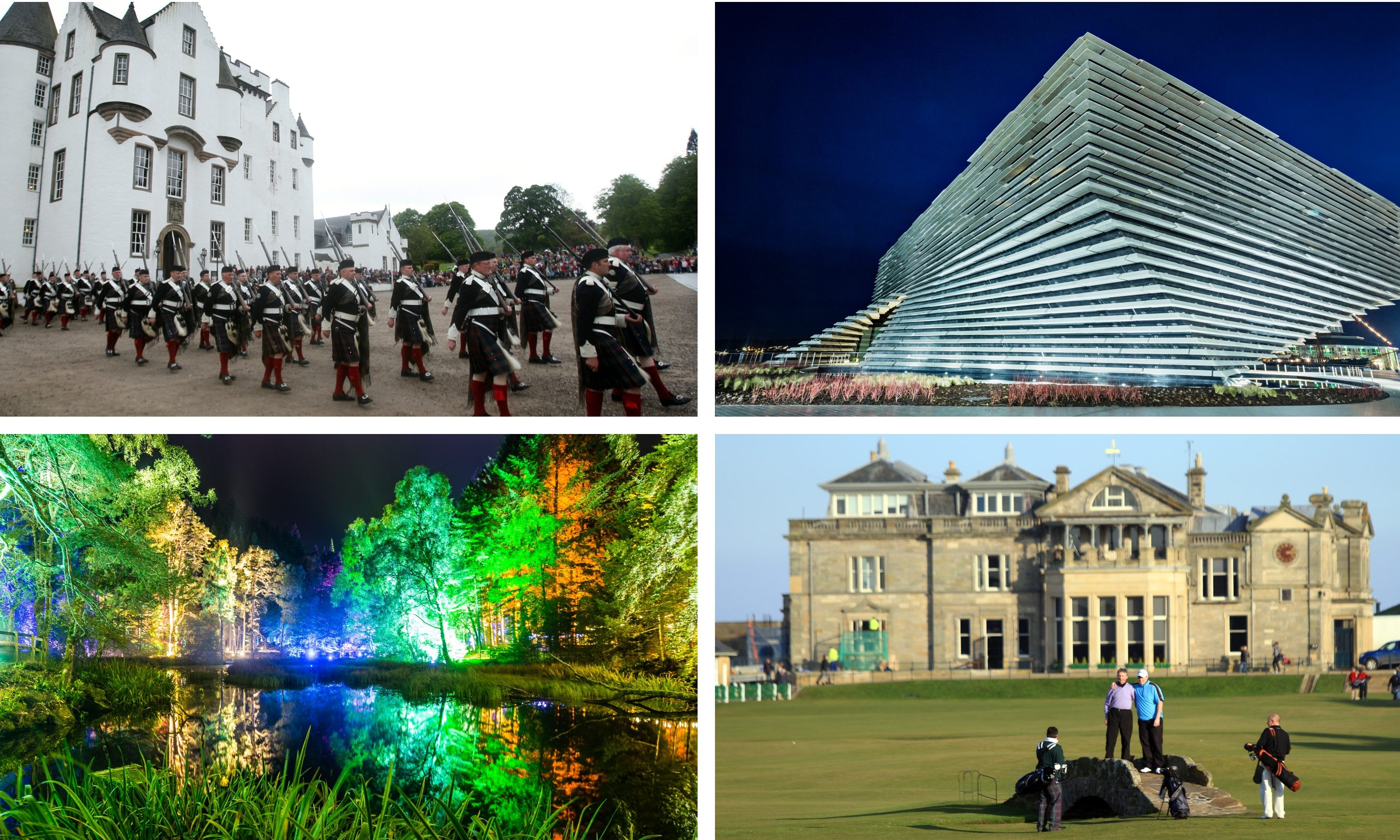 Some of the Tayside and Fife attractions named on the Lonely Planet list.