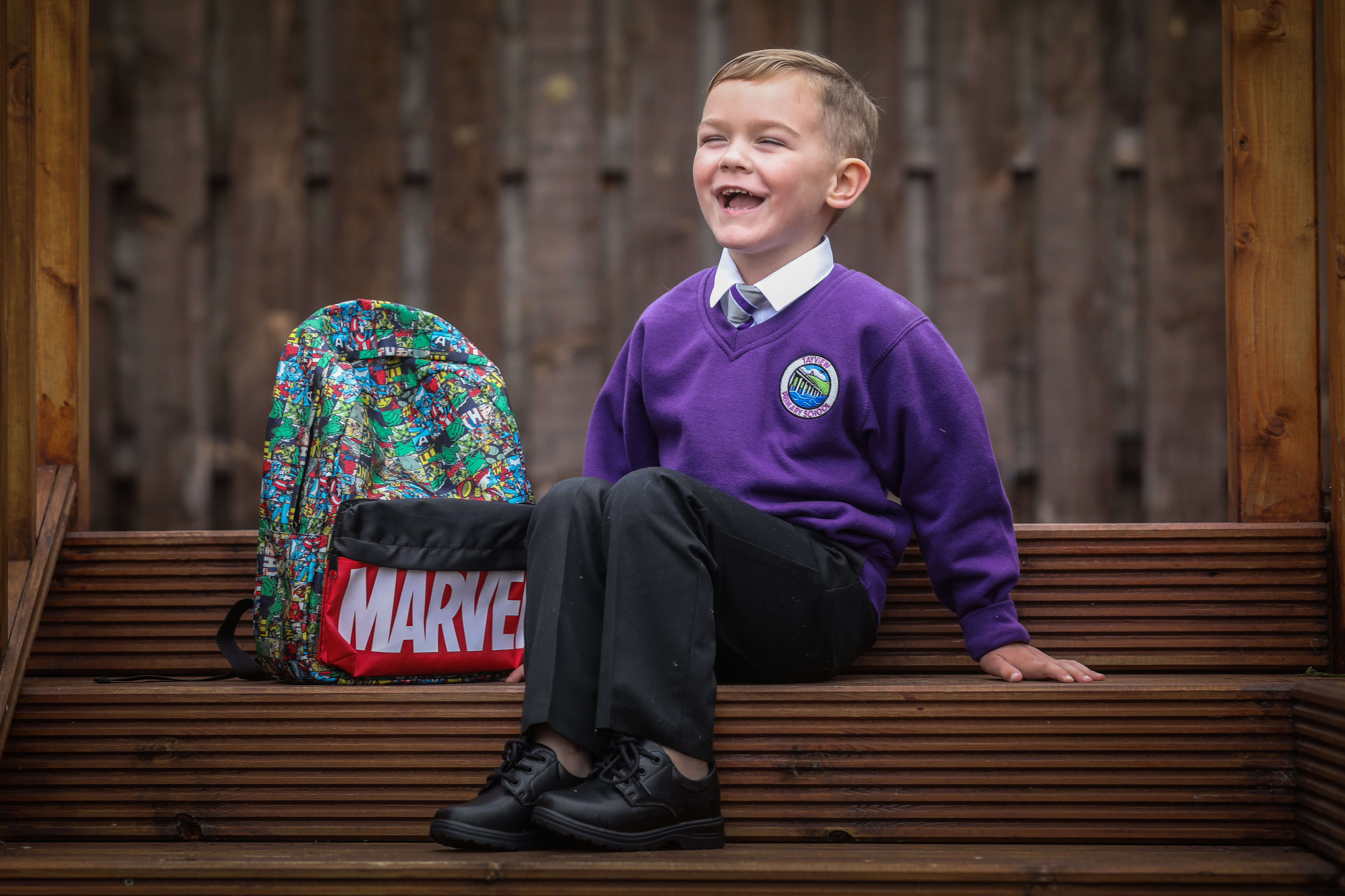 Konnor-Craig McKenzie, 5, has battled cancer and is starting school on Tuesday.
