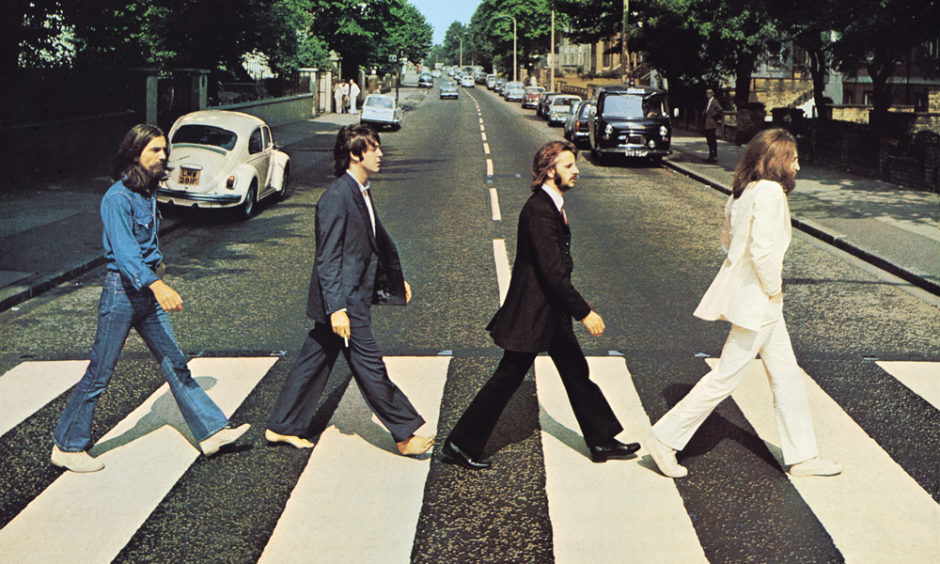 The iconic Abbey Road album cover image taken by Dundee photographer Iain Macmillan on August 8, 1969