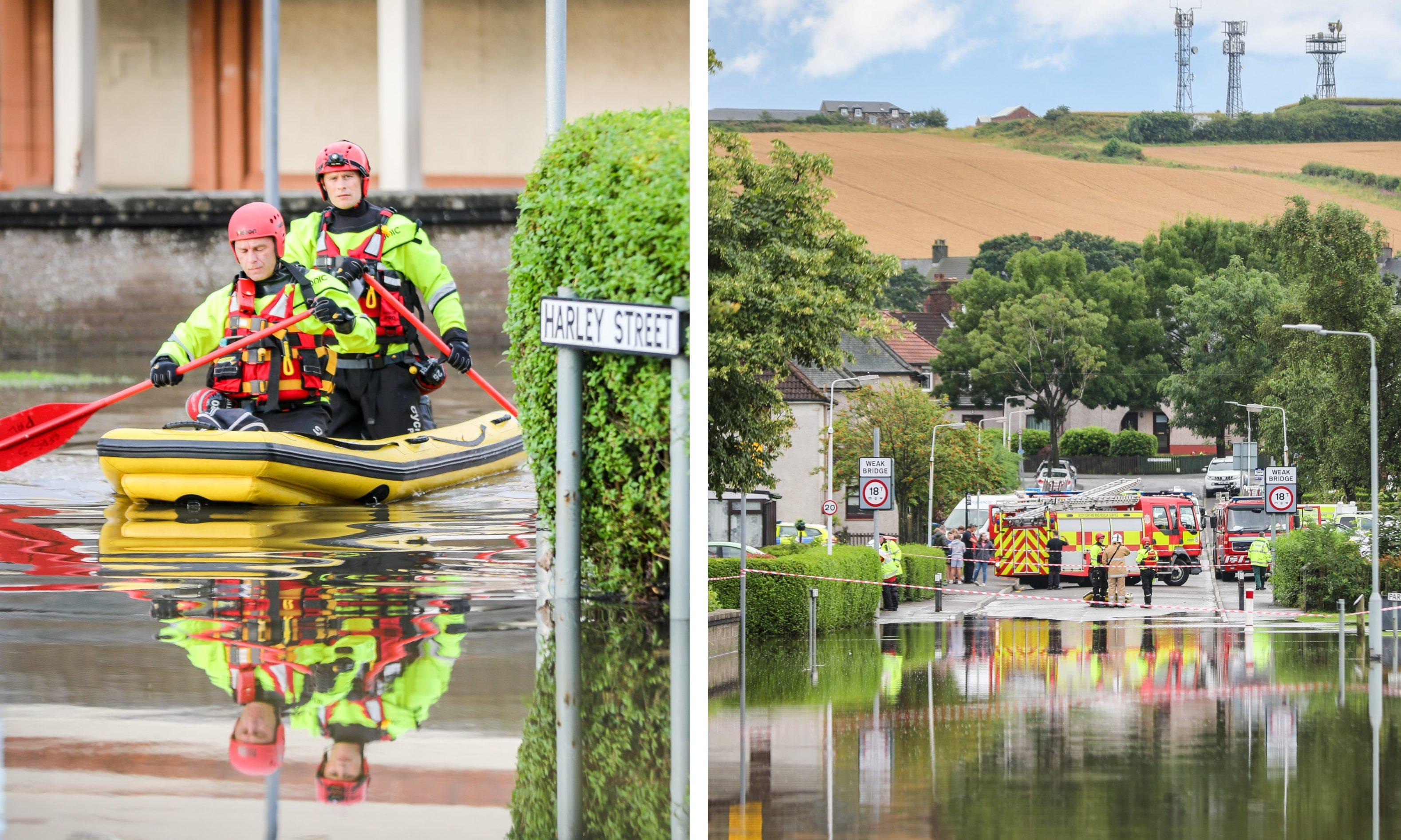 The Rosyth floods.