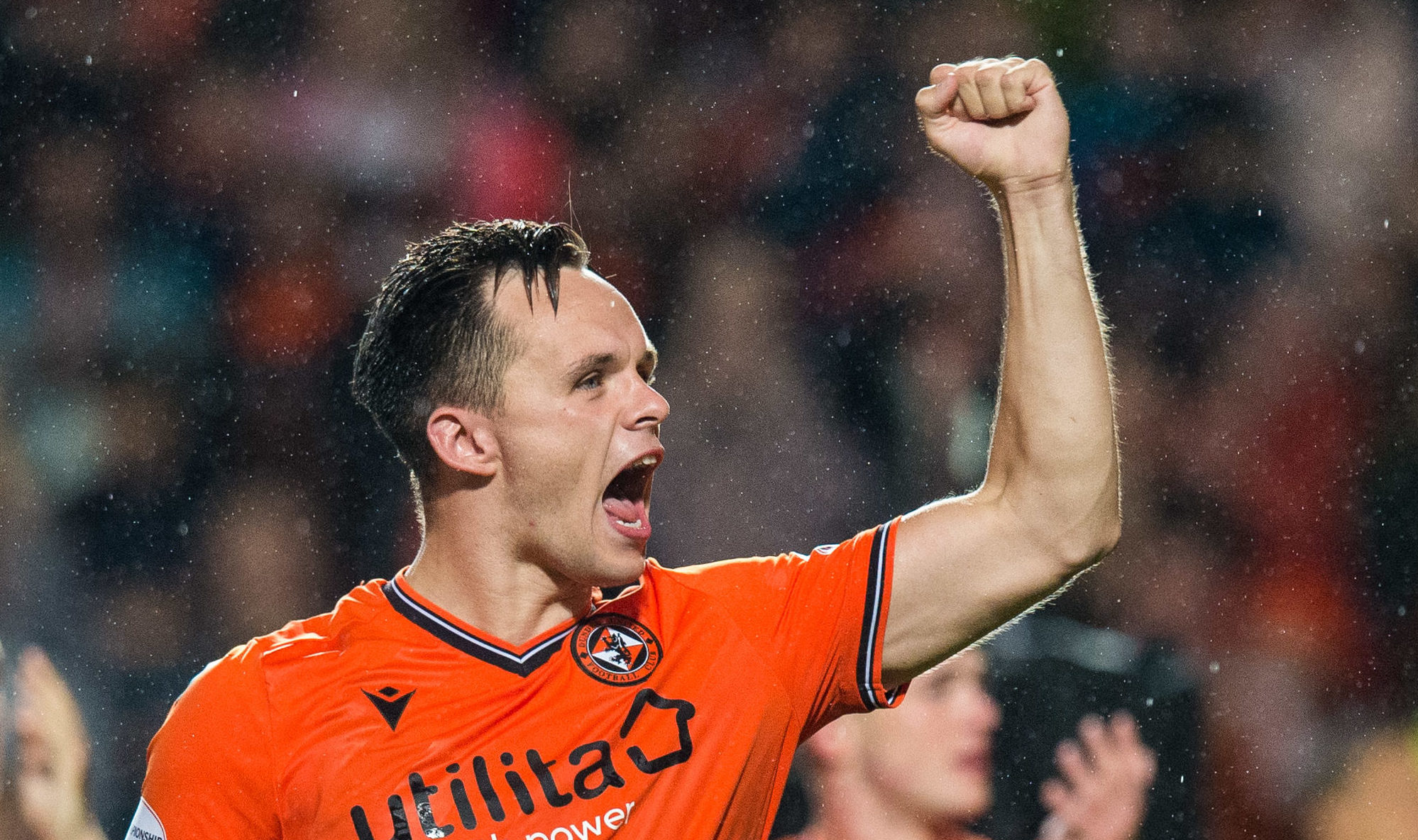 Lawrence Shankland enjoys the last derby win.