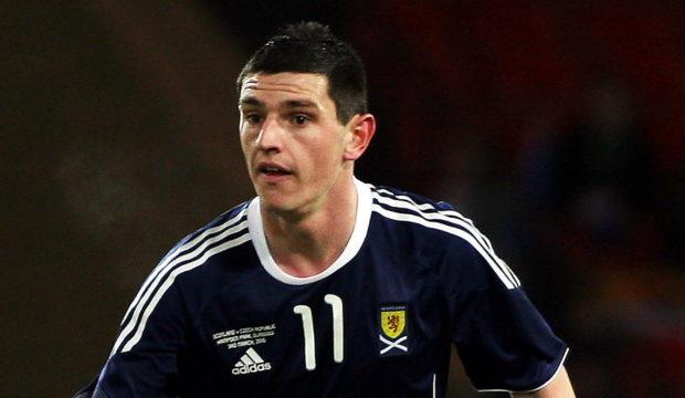 Graham Dorrans in action for Scotland.