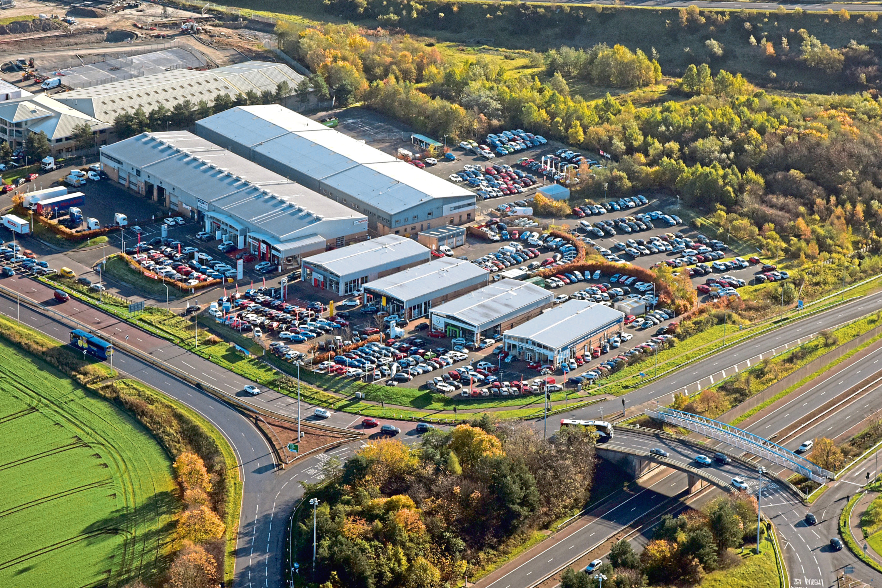 Halbeath Motor and Trade Park in Dunfermline