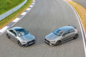 Mercedes Mercedes-AMG A 45 S 4MATIC+ und CLA 45 S 4MATIC+ (2019), Kraftstoffverbrauch kombiniert: 8,4-8,1 l/100 km; CO2-Emissionen kombiniert: 192-186 g/km // Fuel consumption combined: 8.4-8.1 l/100 km; Combined CO2 emissions: 192-186 g/km