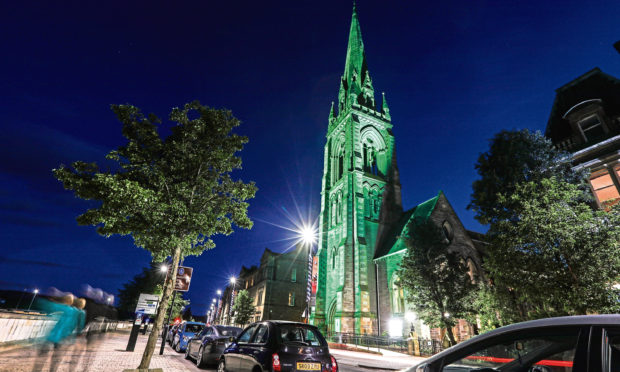 The iconic St Matthews Church, Tay Street, Perth.