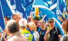A pro-independence march which took place in Perth in September.