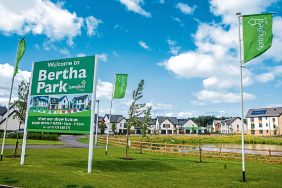 The Bertha Park development on the outskirts of Perth