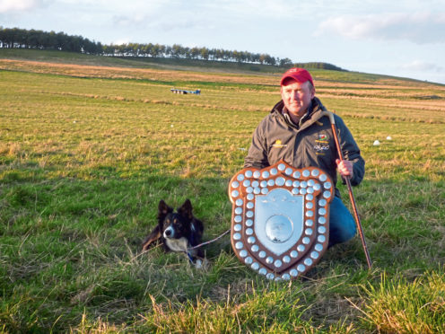 Kevin Evans from Wales,  won the championship with his dog, Hybeck Blake.