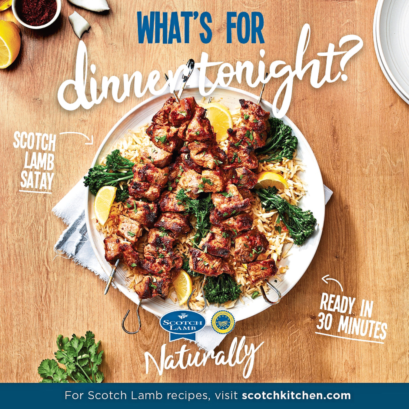 QMS says the campaign will offer inspiration for recipes for quick and easy meals.