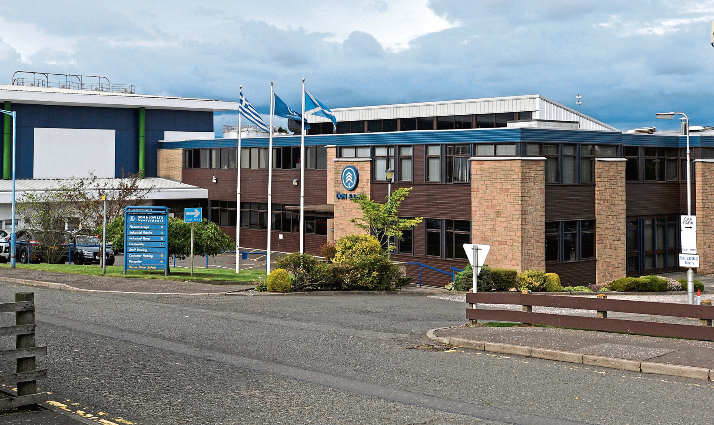 The company base in Glamis Road, Forfar.
