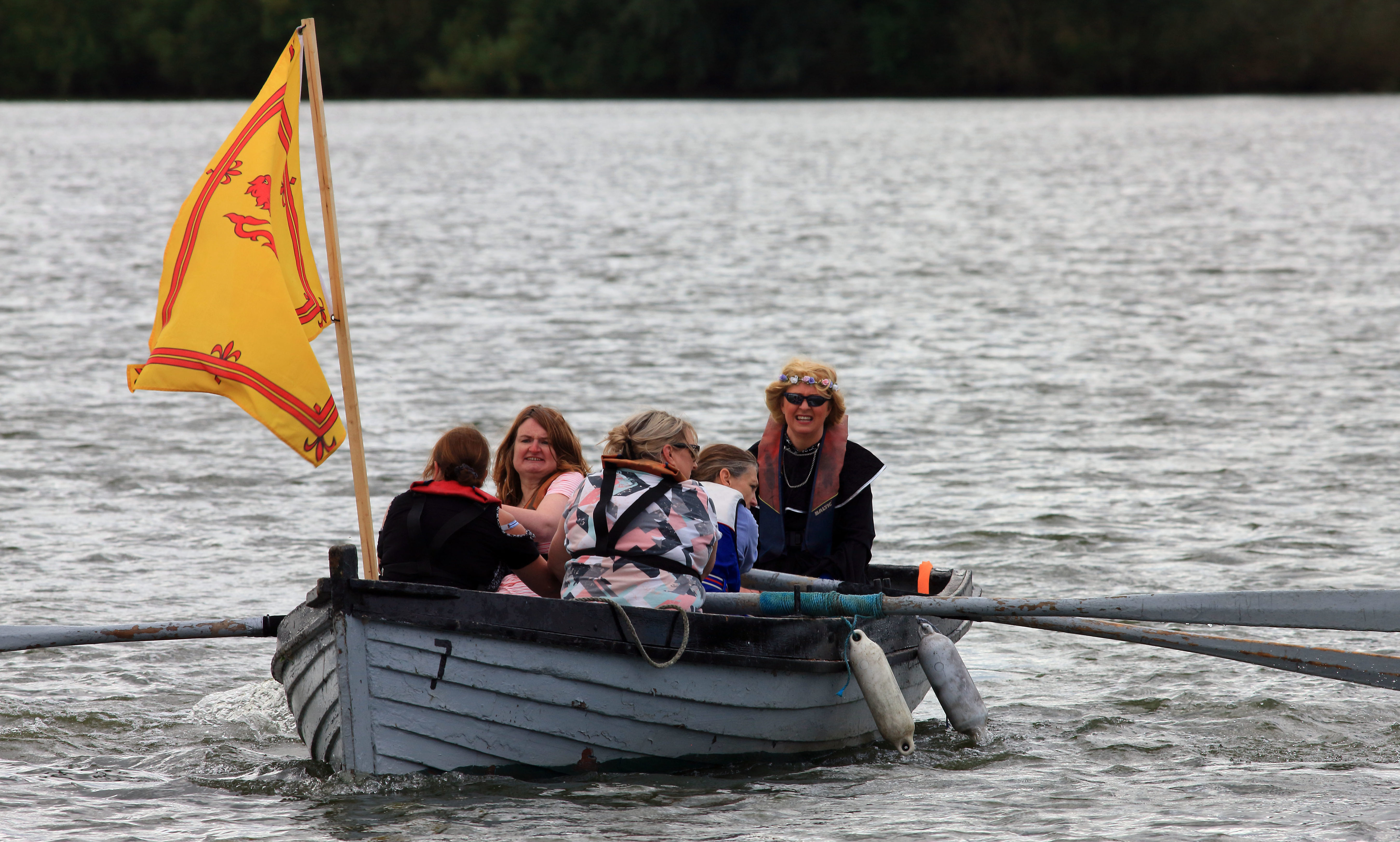 Mary Queen of Scots boat race at Loch Leven.