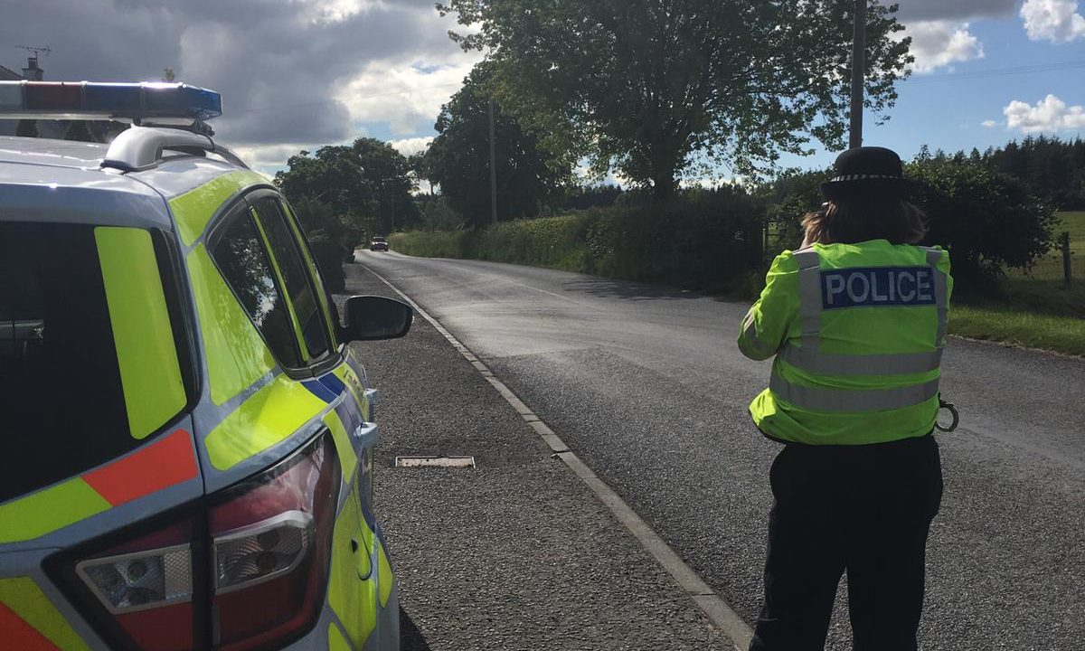 Officers were stationed along the A93 on Friday to catch dangerous drivers.
