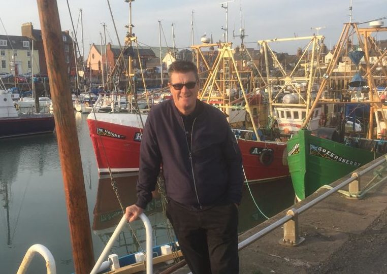 Mr Marshall at Arbroath harbour.