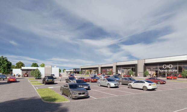 An artist impression of the retail park