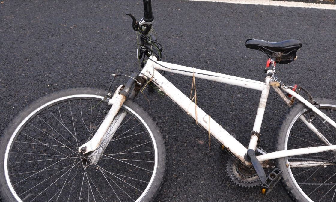 A picture of the white mountain bike involved has been released.