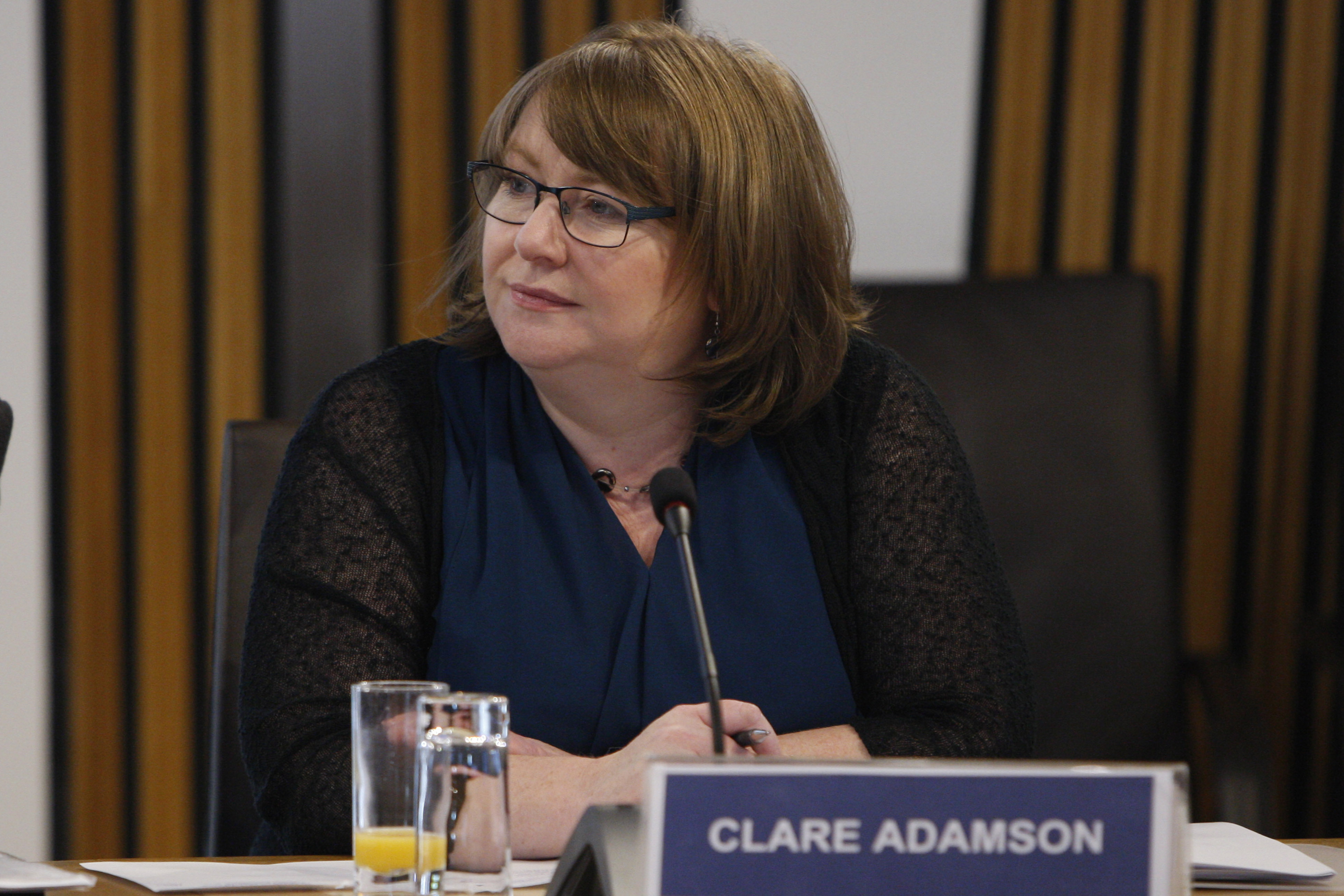 Clare Adamson MSP Convener of theStandards, Procedures and Public Appointments Committee at Convener's Group