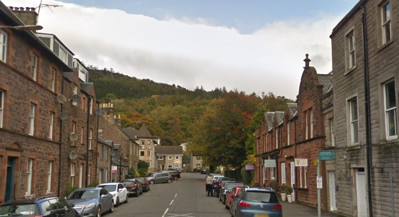 Cross Street, Callander (stock image).