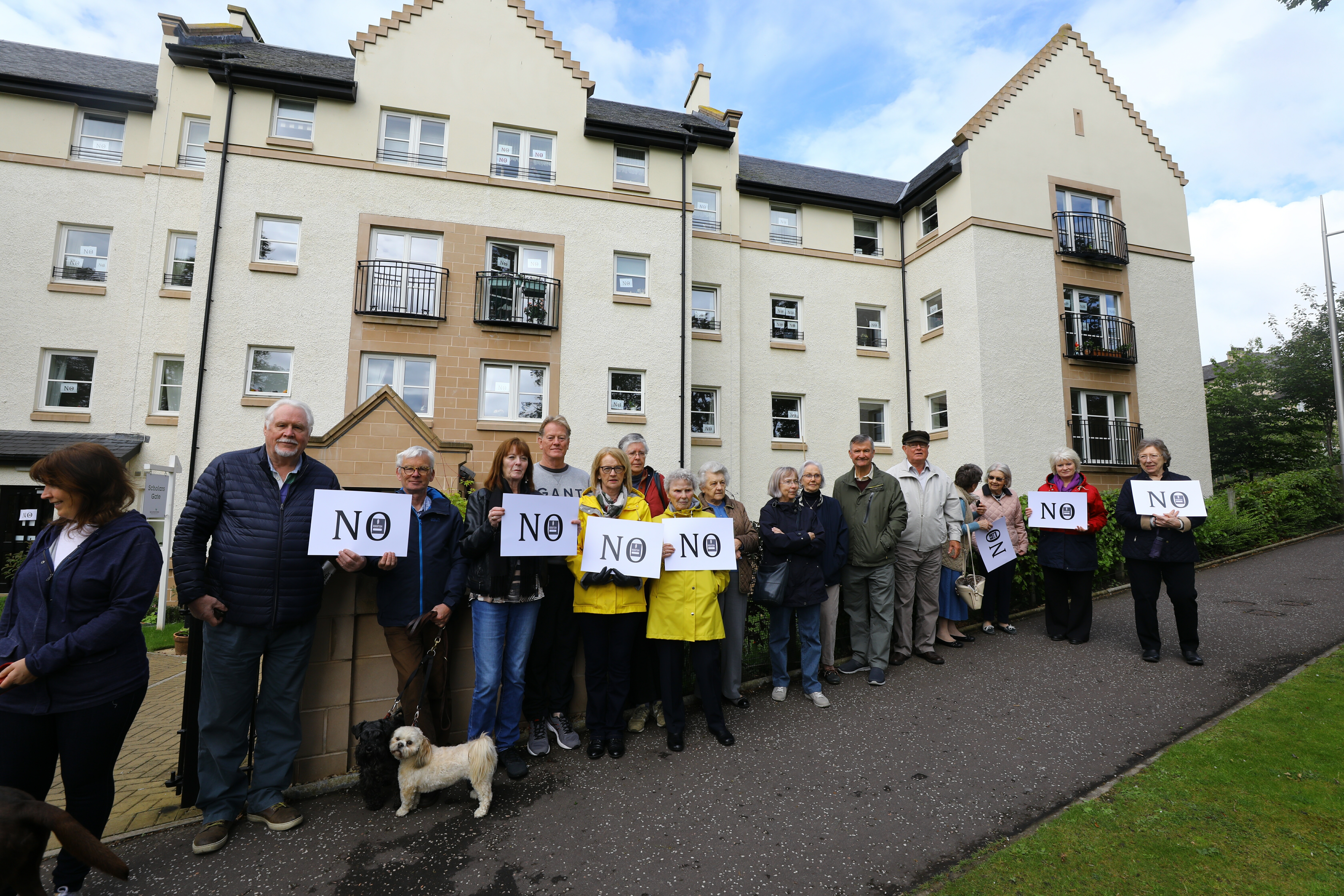 A silent protest was held at Abbey Park before councillors rejected plans for a hotel and student accommodation.