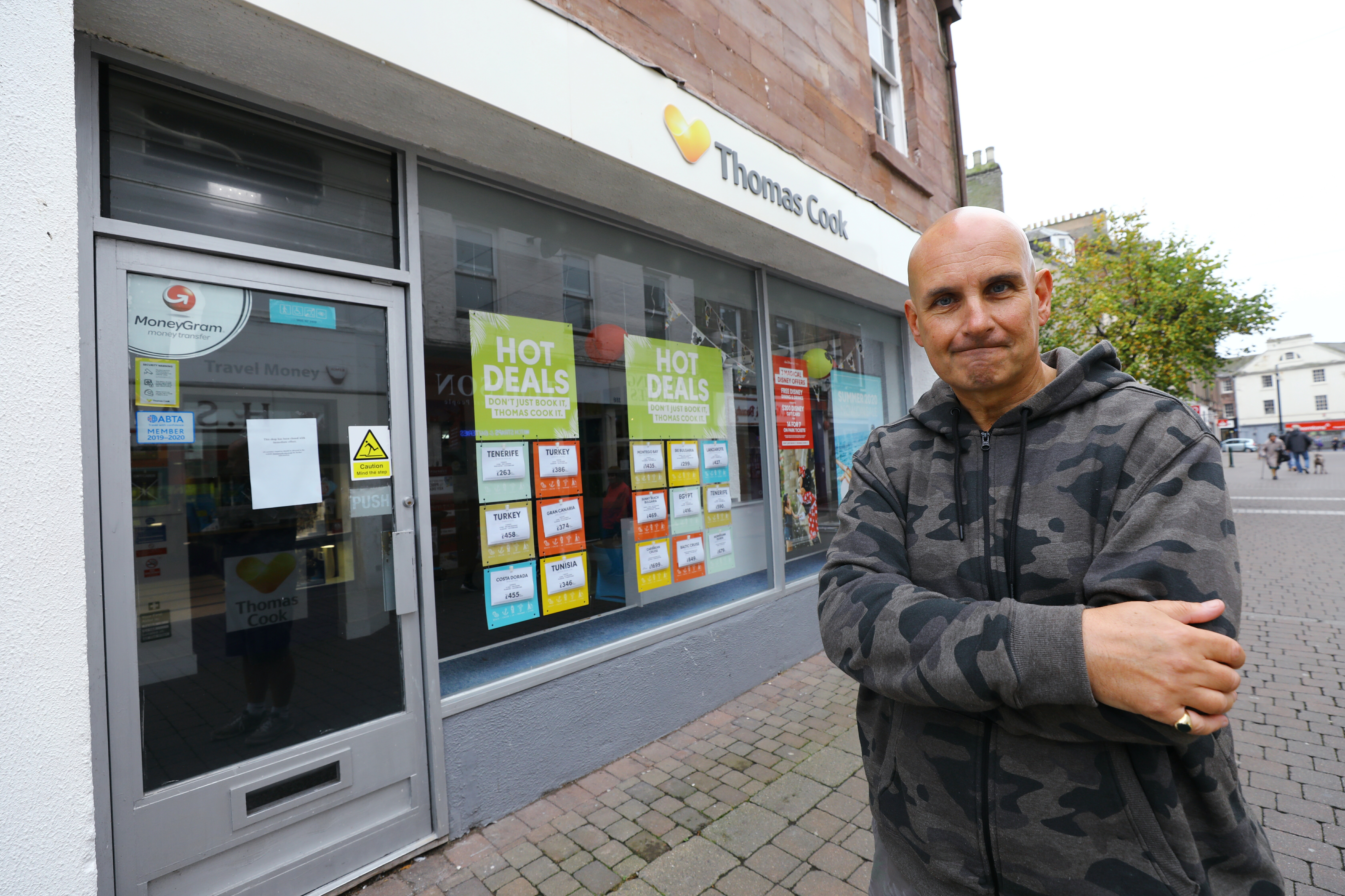 Stuart Betty, former manager of Thomas Cook in Arbroath.