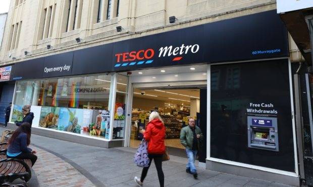The Tesco Metro store in the Murraygate.