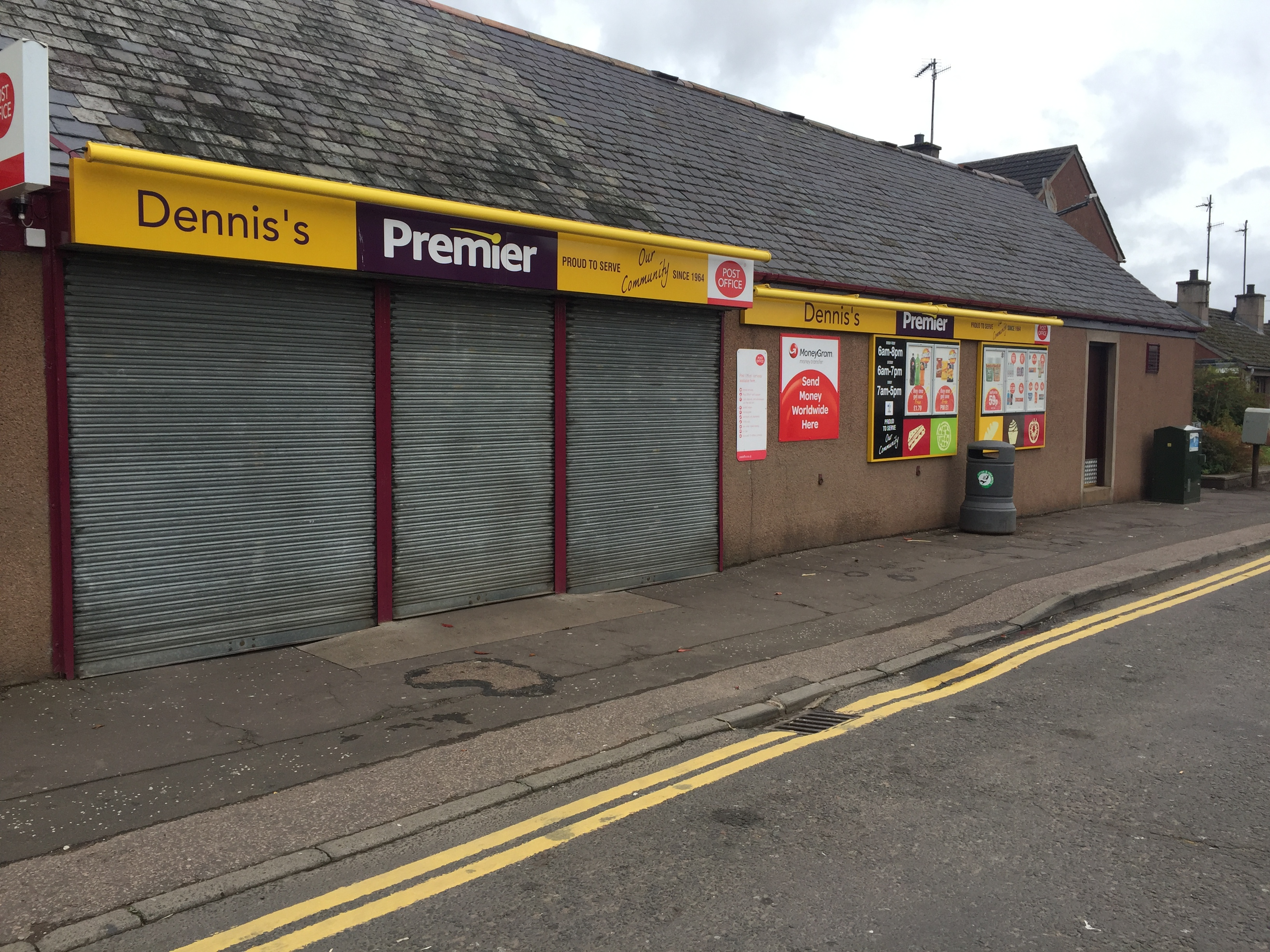 Dennis's shop in Montrose Street, Brechin.
