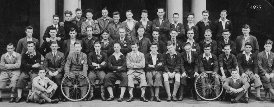 Dundee Thistle Cycling Club in 1935.