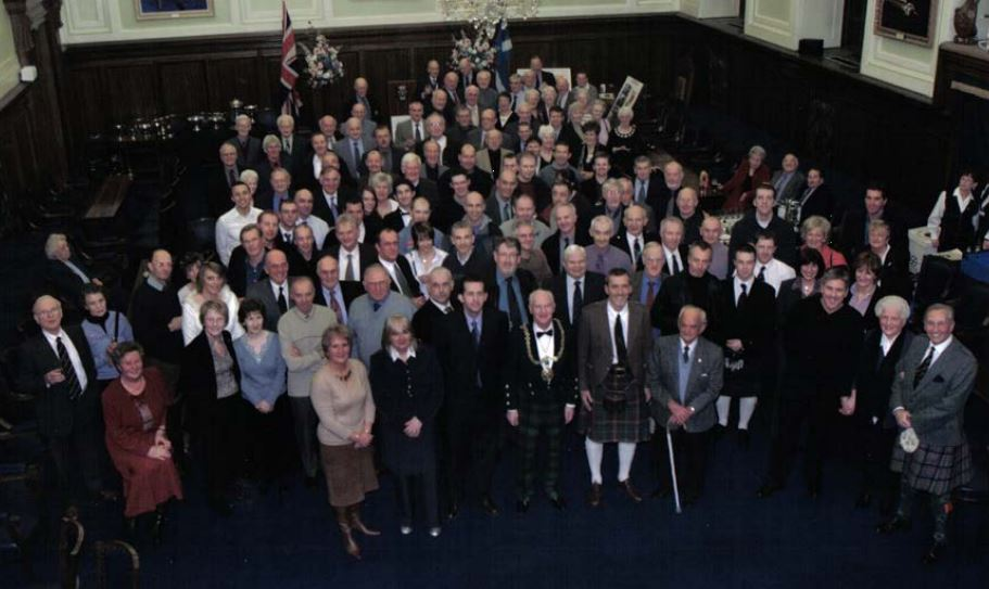 Dundee Thistle celebrated 75 years with a civic ceremony in 2005.