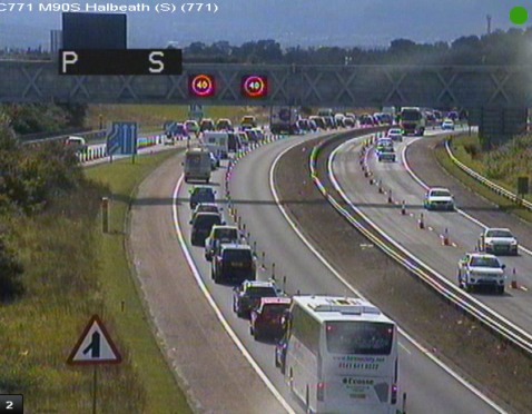 The M90 southbound at Halbeath.