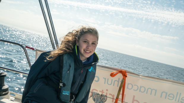 Elita on one of the sailing trips.