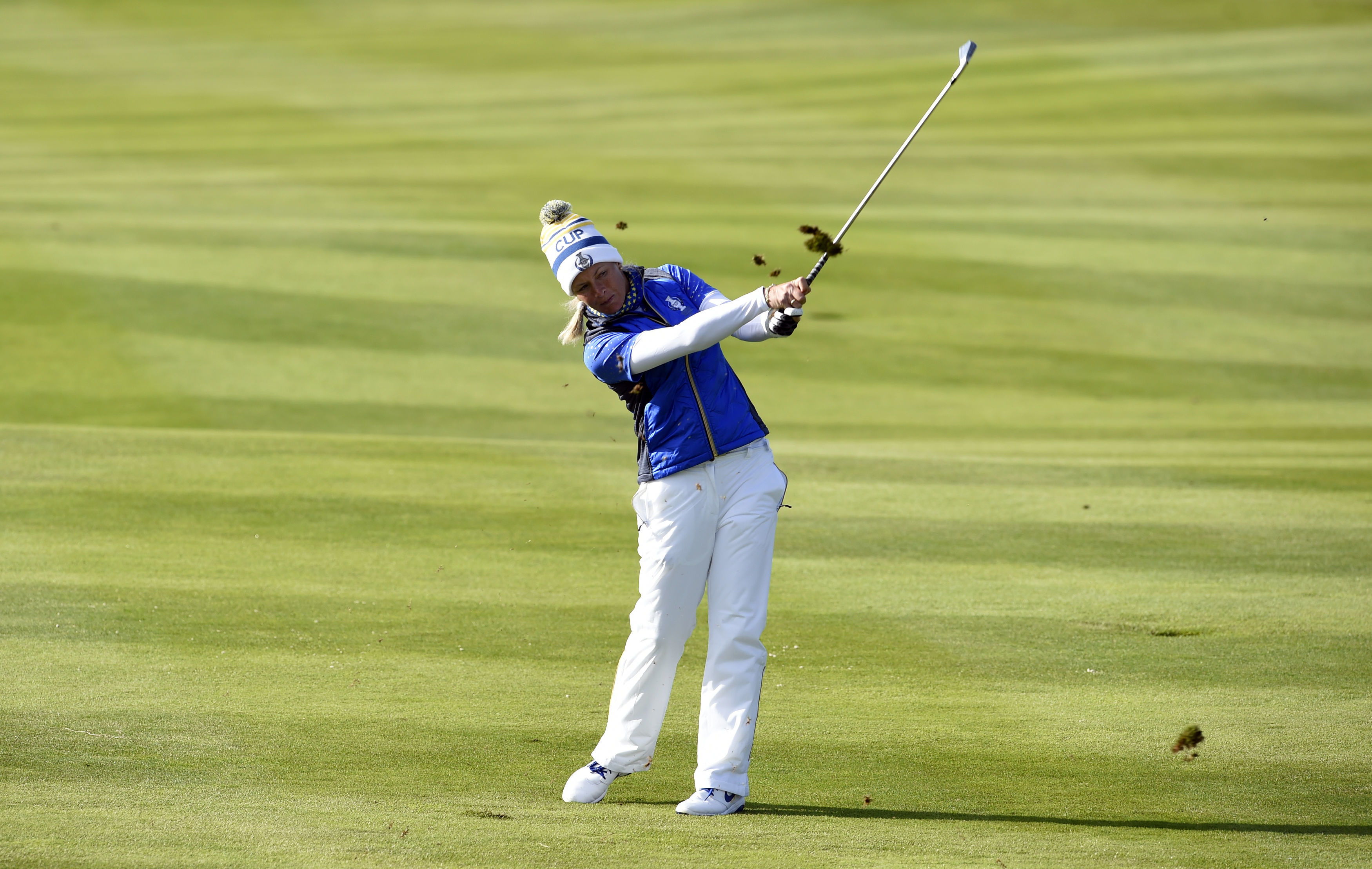 Europe's heroine Suzann Pettersen during the final day of the 2019 Solheim Cup.