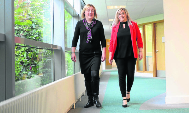 Dr Alison Clement, Clinical Director for the Angus Health & Social Care Partnership and Jillian Galloway, Head of Primary Care Development, Kings Cross Health & Community Care Centre, Dundee, 30th October 2017