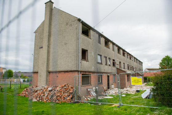 Housing at Timmergreens in Arbroath is at the centre of a major regeneration.