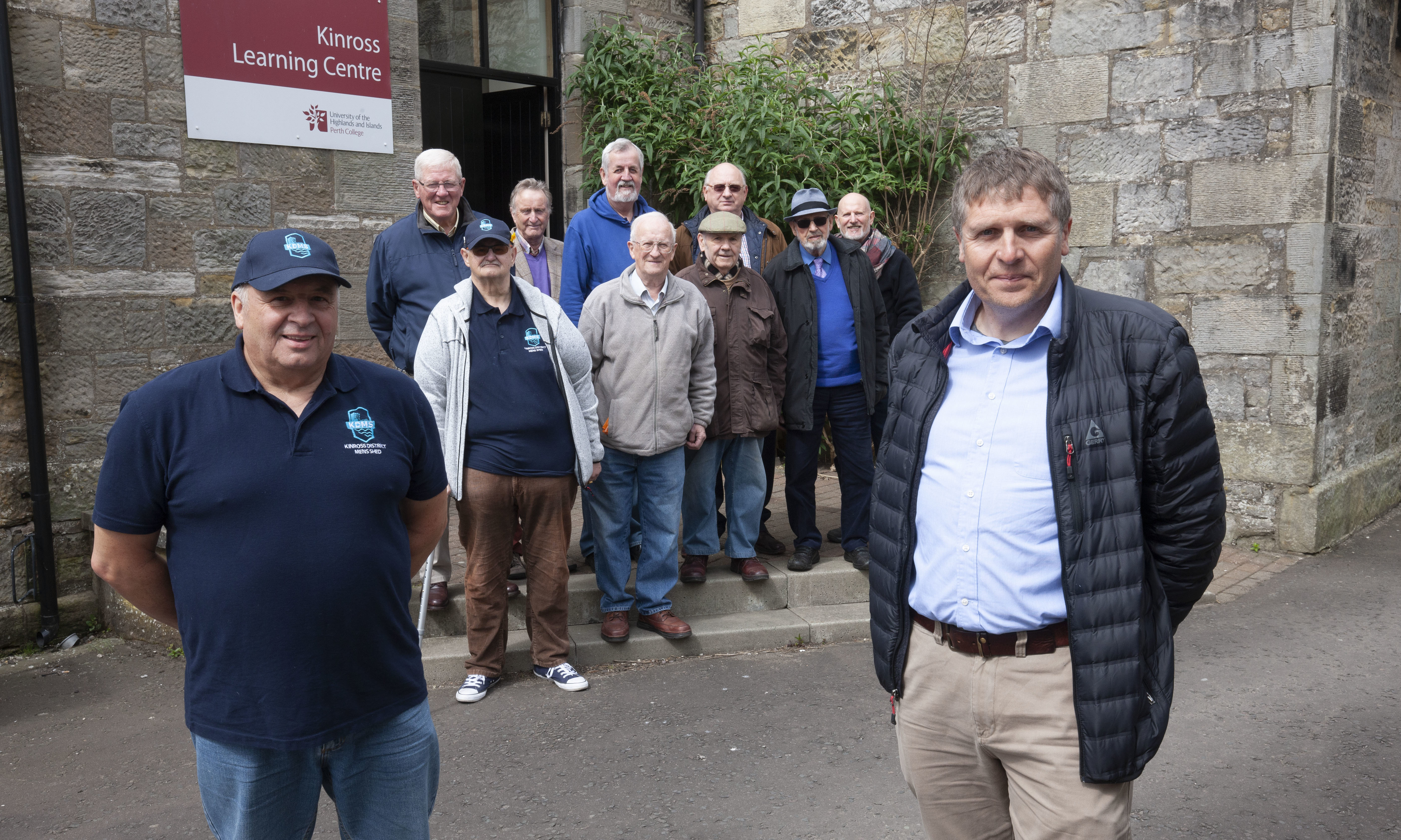 Councillor Watters, right, and the Kinross Mens Shed group are delighted with the success.