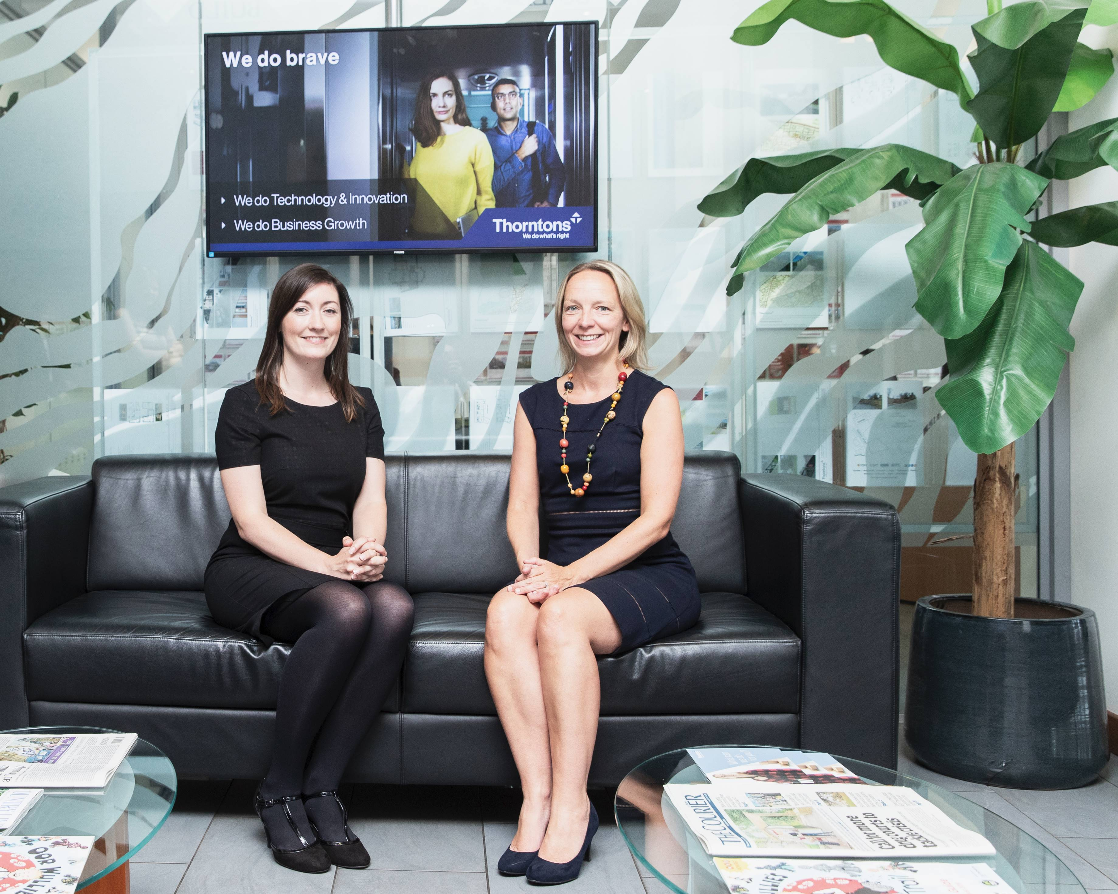 Morgan O'Neill, director of data protection services and Lesley Larg, partner at Thorntons.