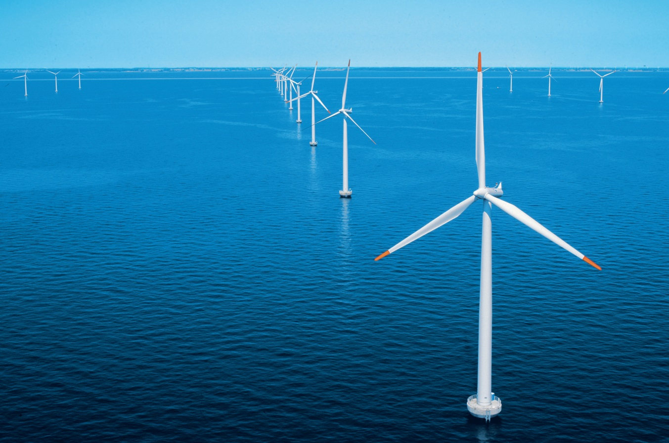 An artist's impression of the Neart na Gaoithe windfarm off the east coast.
