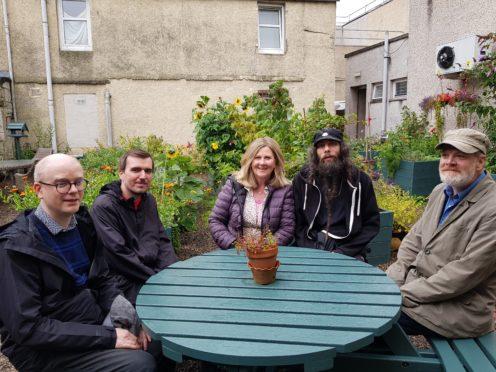 Members of PLUS, Perth. (L-R) Andrew Hewitt, Neil Barrie, Susan Scott, Derek Scrimgeour and Keith Scott.