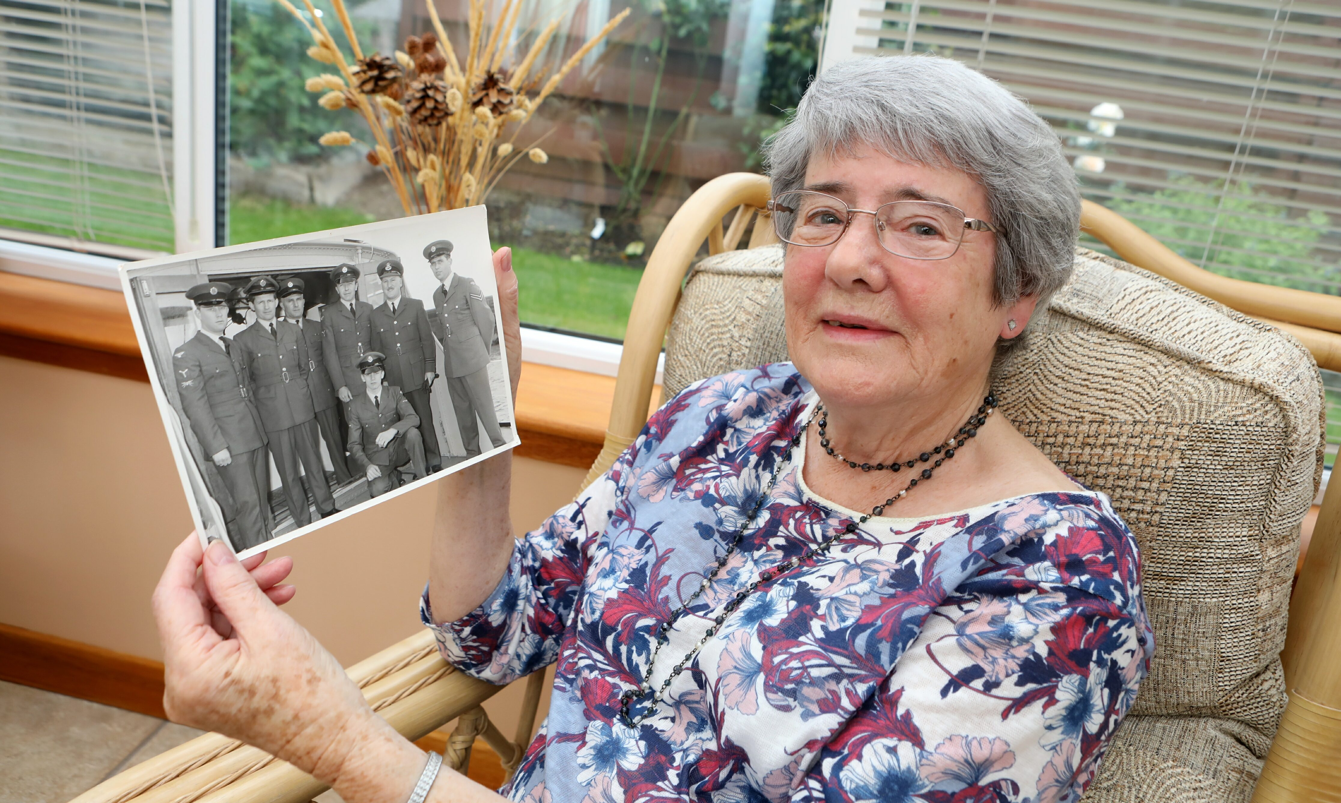 Katherine Brown from Newport with RAF picture including her late husband Fl Lt Ken Bell