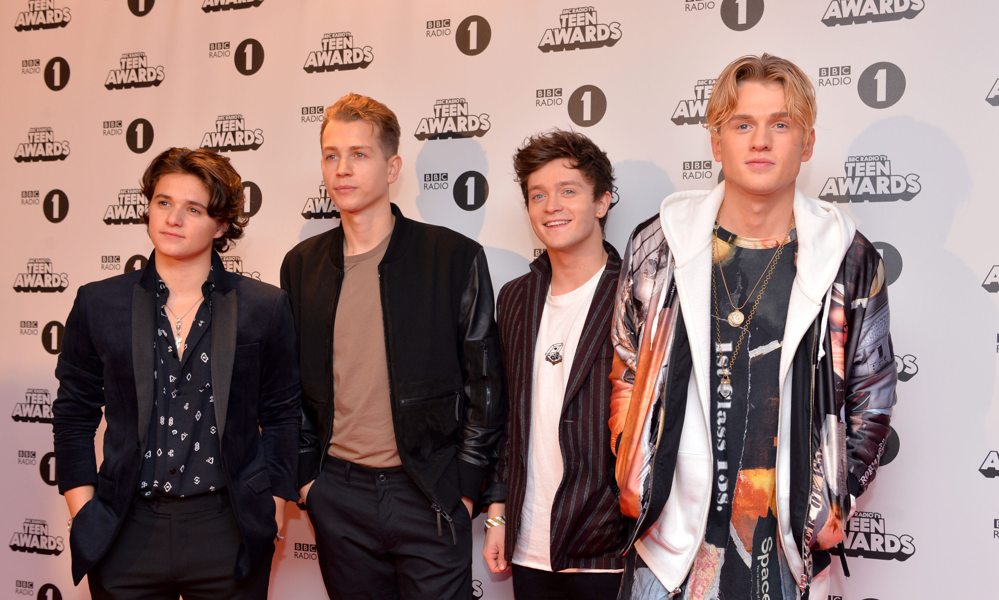 Bradley Simpson, James McVey, Connor Ball and Tristan Evans of The Vamps.