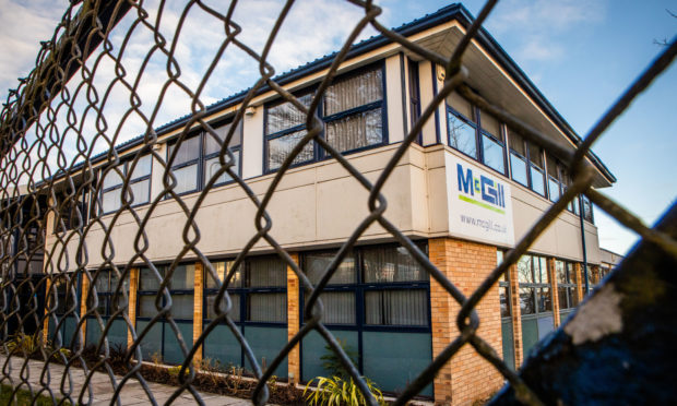 McGill premises at Harrison Road, Dundee. Picture: Steve MacDougall / DCT Media