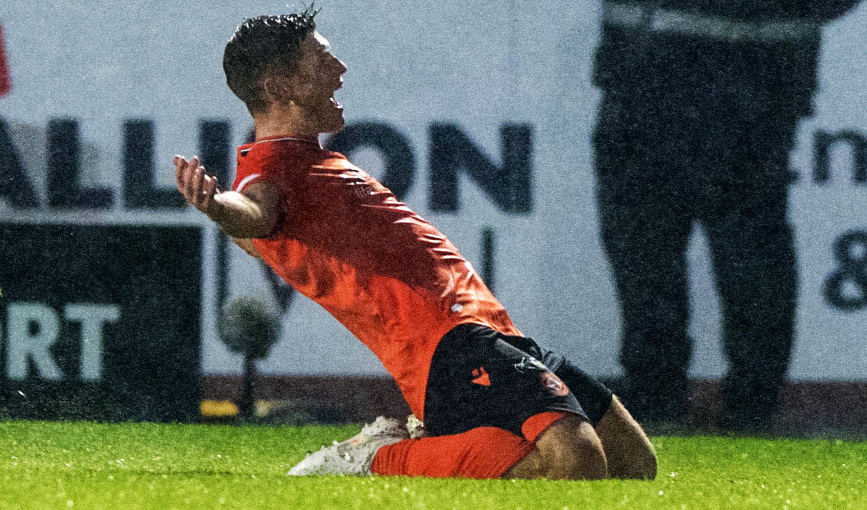 Cammy Smith after scoring against Dundee.