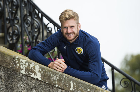 Stuart Armstrong at the team hotel at Dalmahoy..