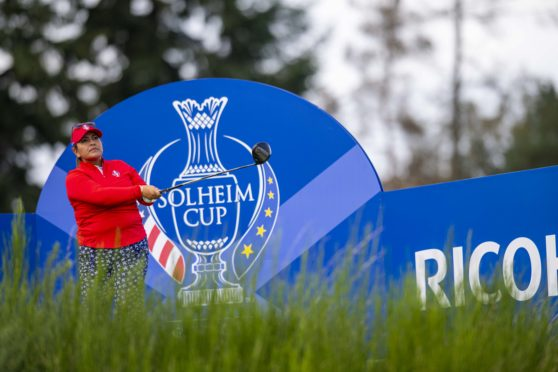 The USA's Lizette Salas was the only player to get a bad time warning despite slow play issues at the Solheim Cup.